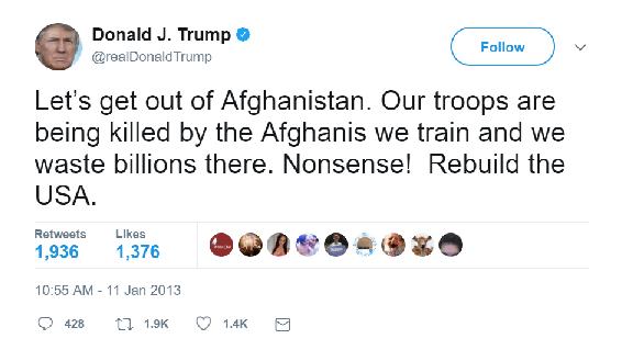 Afghanistan Tweet