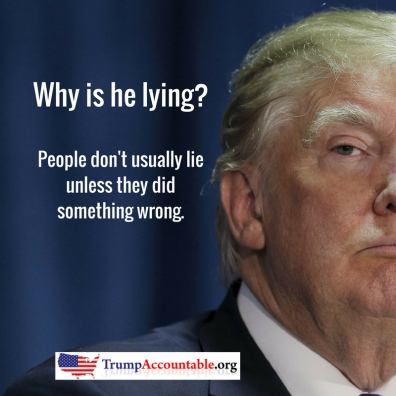 Why is he lying-